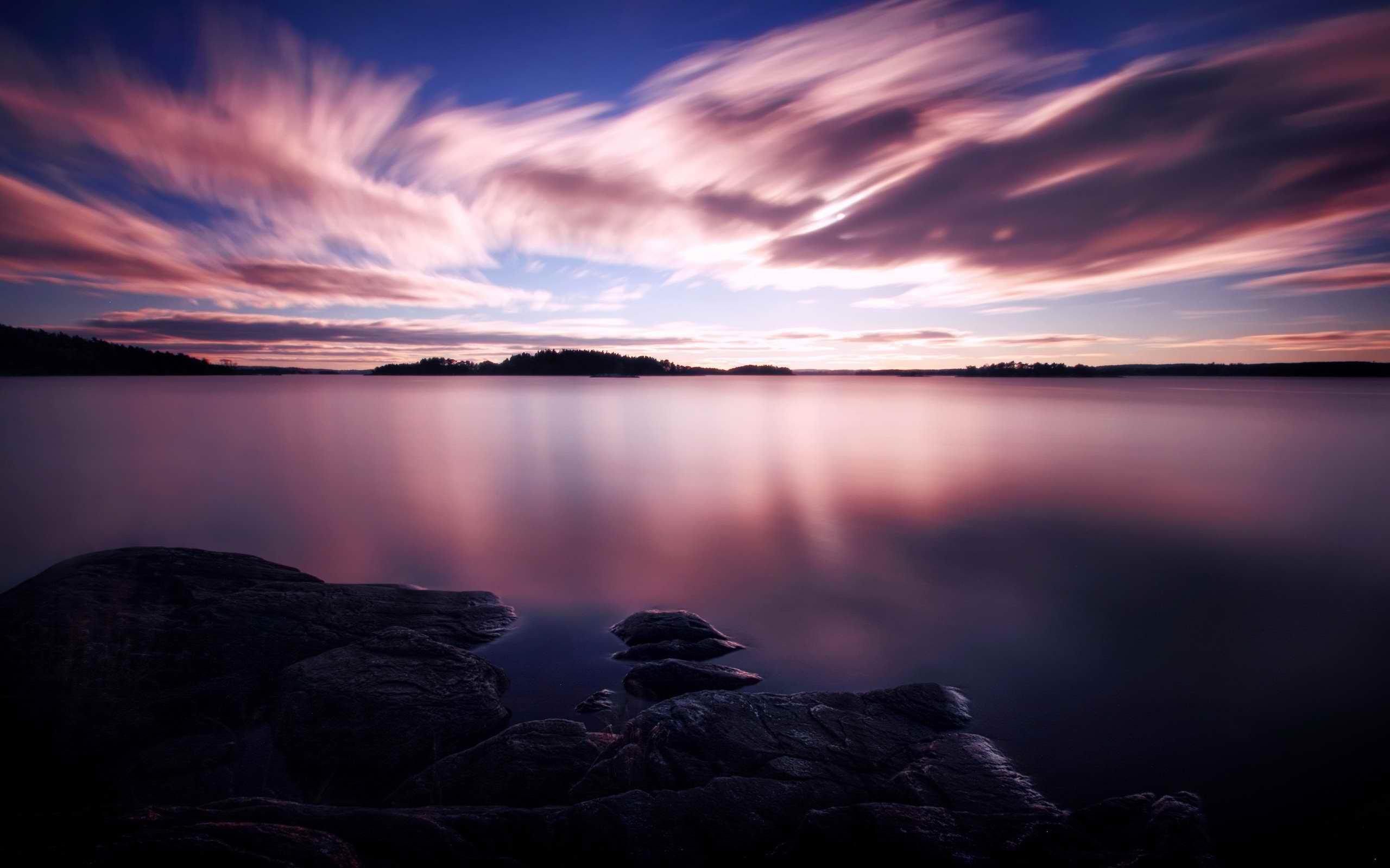 purple sunset wallpaper nature