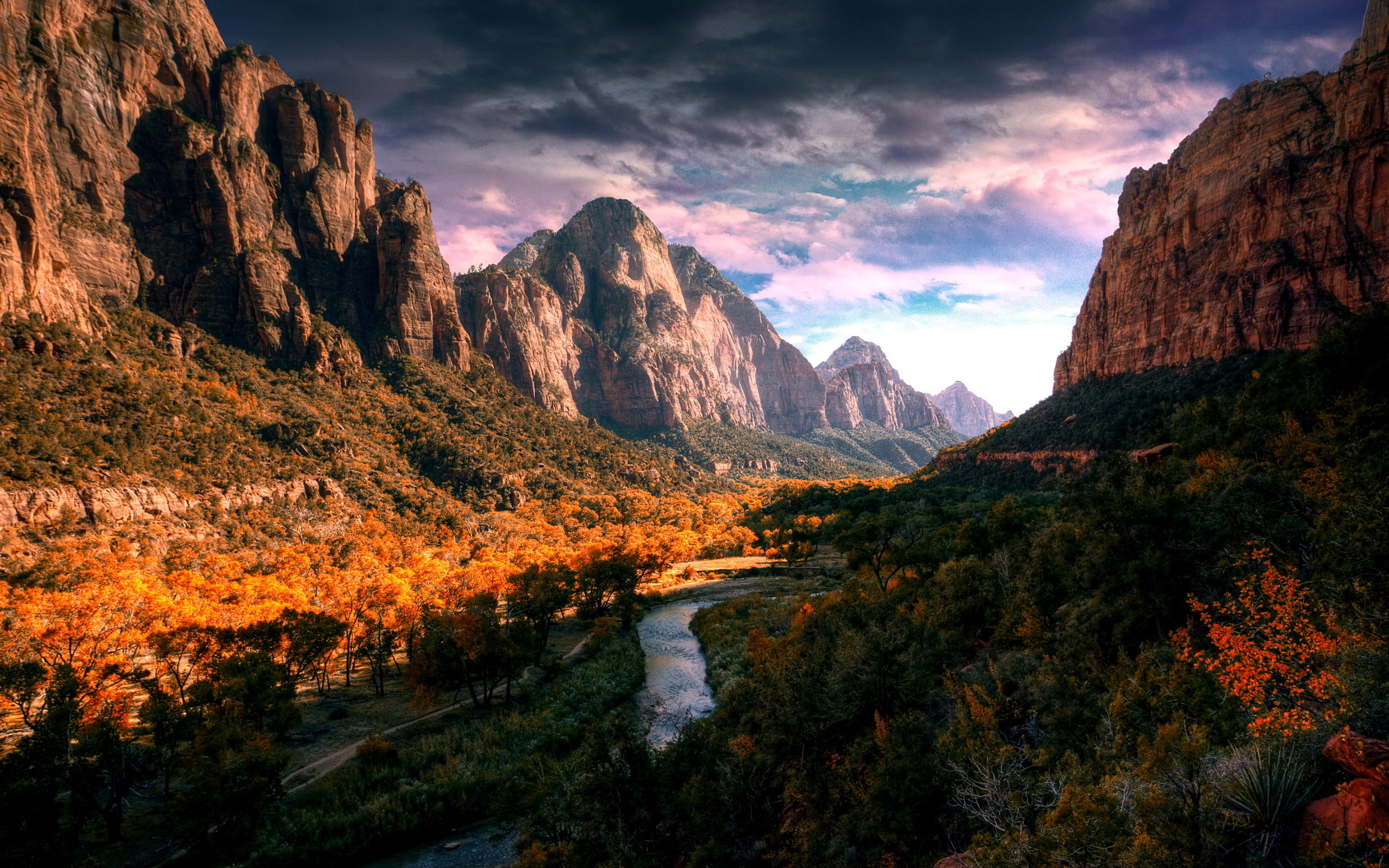 river wallpaper autumn hd