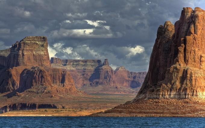 river wallpaper canyon