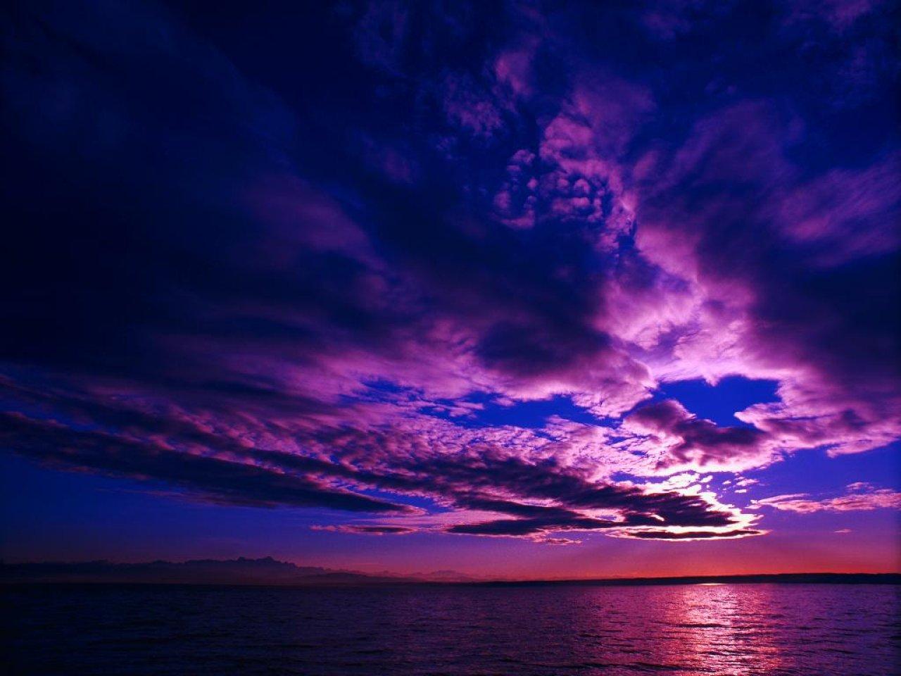 scenic wallpaper purple