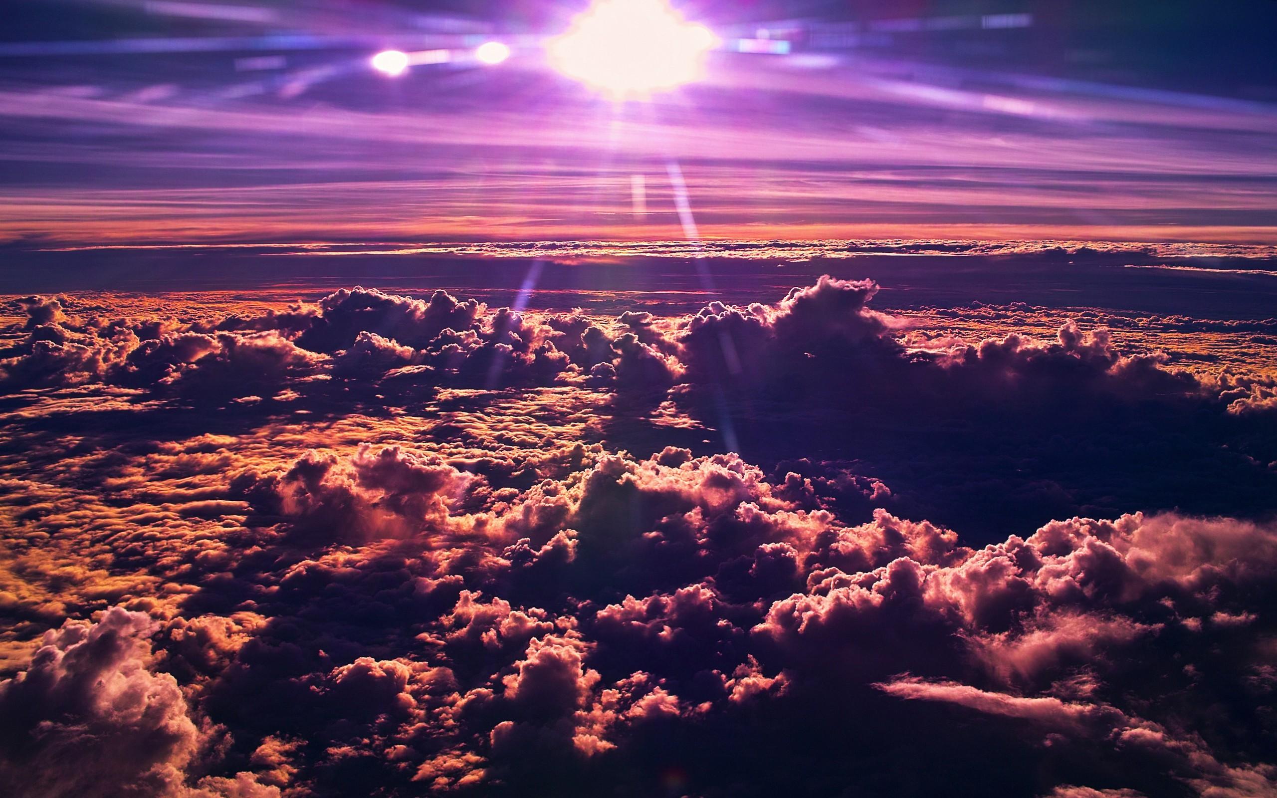 sky desktop background purple