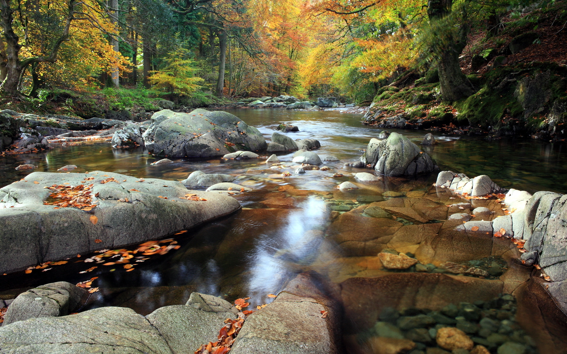 stream mountain wallpaper