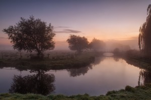 sunrise wallpaper river fog