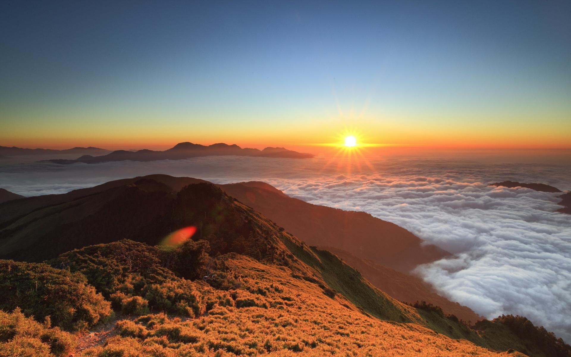sunset images mountains panorama