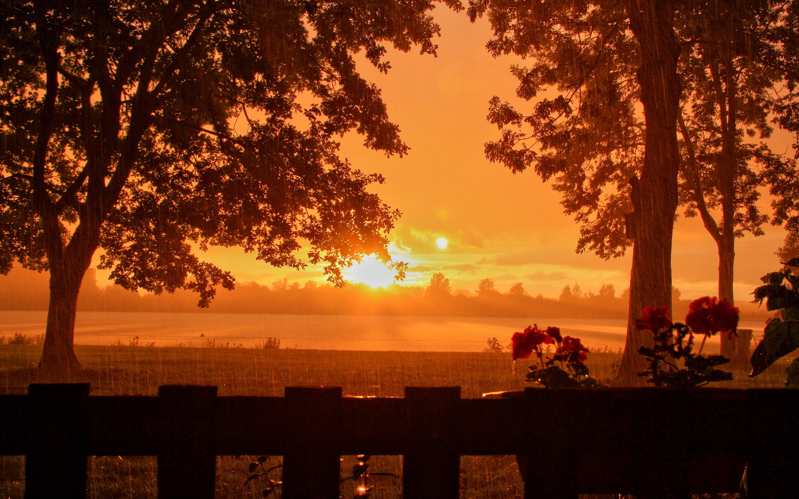 sunset images rain