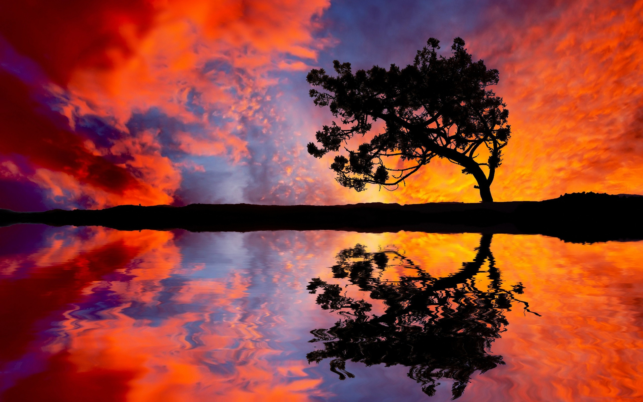 sunset pictures reflection