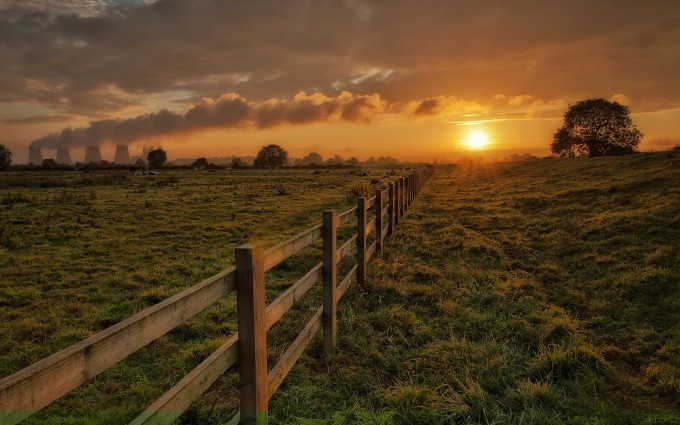 sunset wallpapers countryside