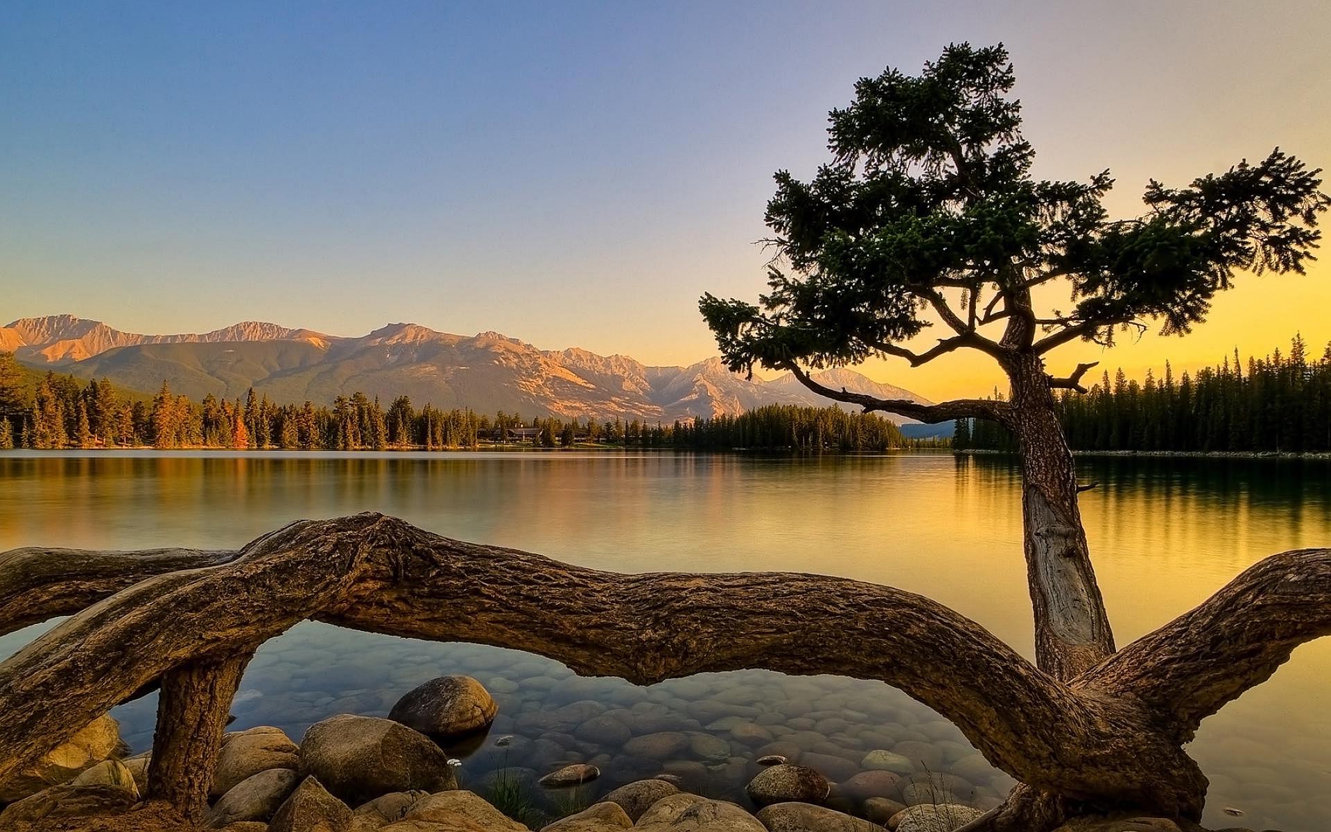 sunset wallpapers lake