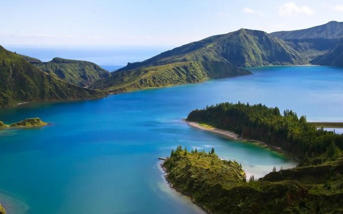 volcano lake backgrounds