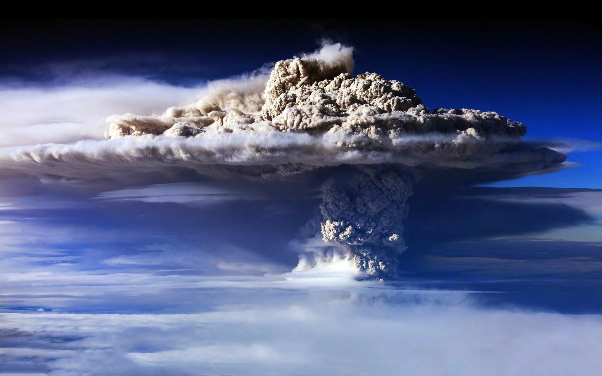 volcano wallpaper smoke hd