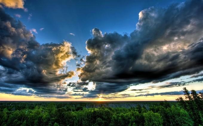 wallpaper cloudy sky