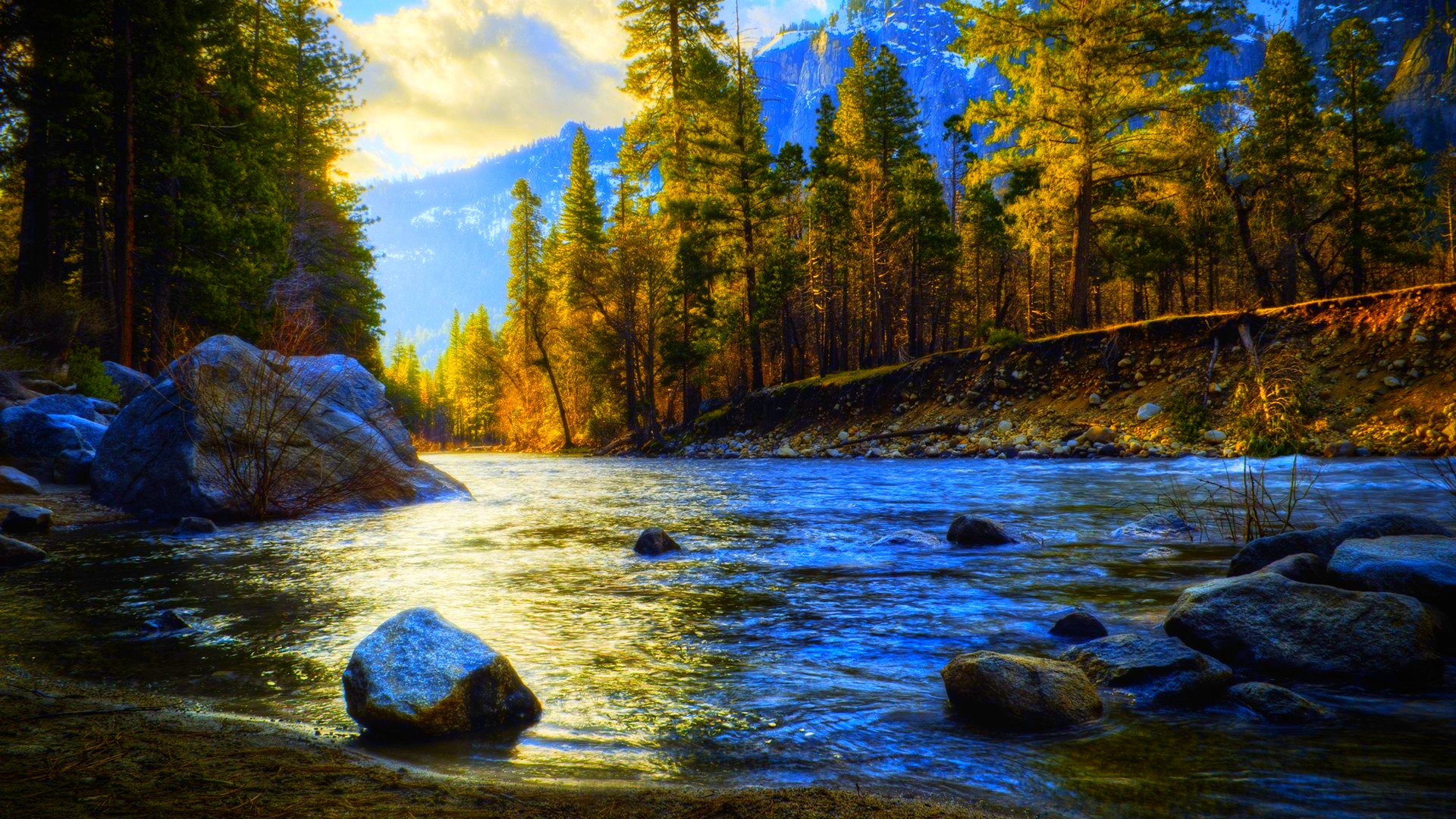 wallpaper nature river