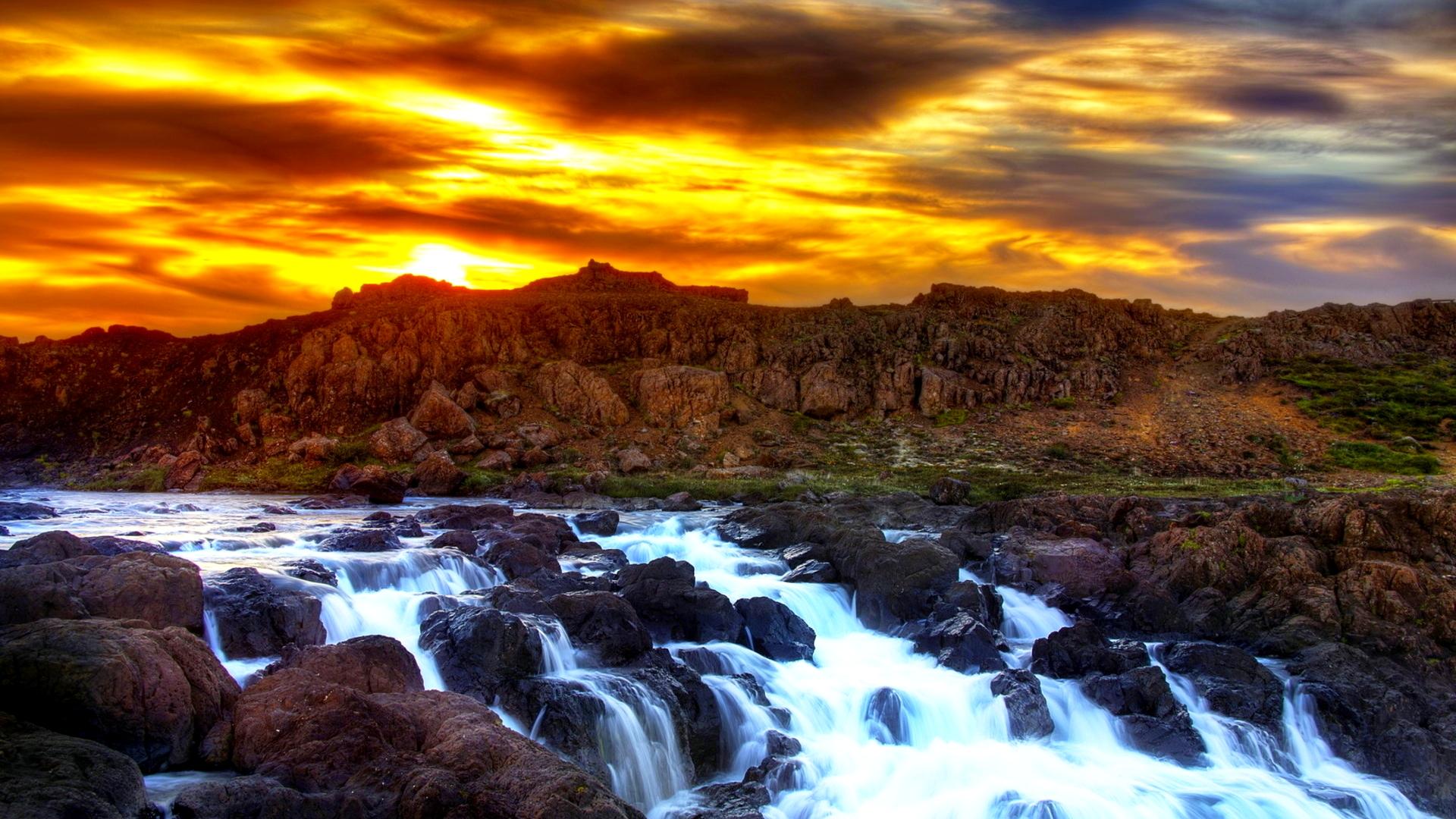 waterfalls wallpaper fantastic