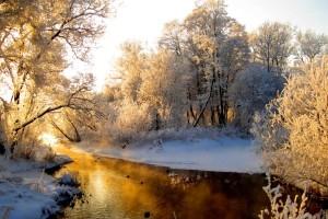 winter stream wallpapers