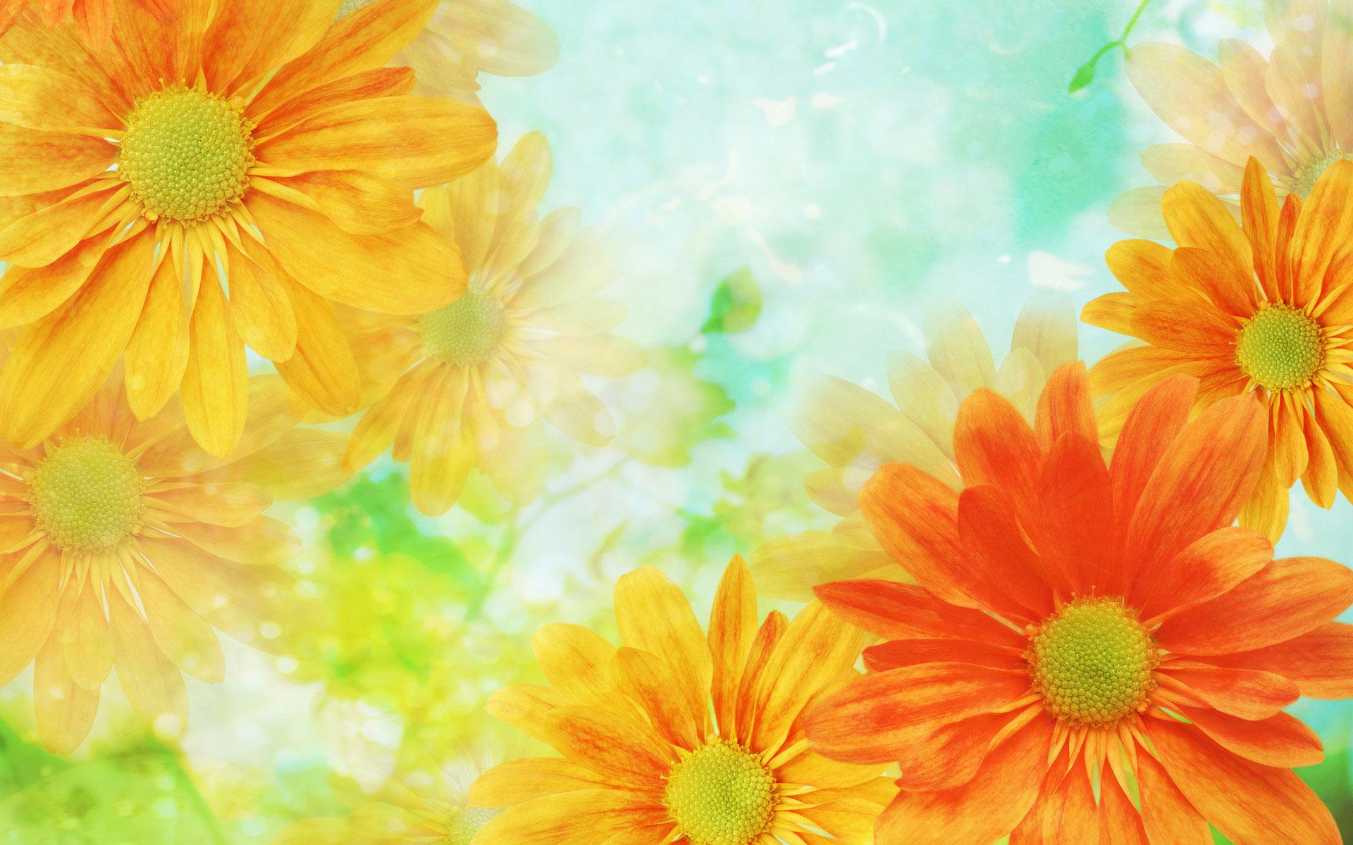yewllow flowers art 3d